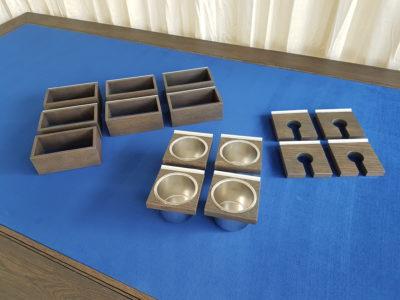 Set accessoires boardgametafel.