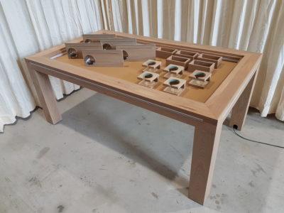 Speeltafel met uitgebreide accessoireset.