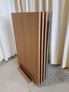 Panelenstandaard met 4 panelen.