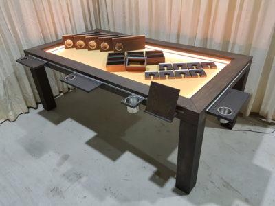 Board game tafel met Led en uitgebreide set accessoires.