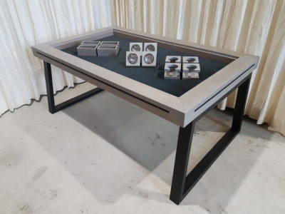 Silver-Grey board game table.